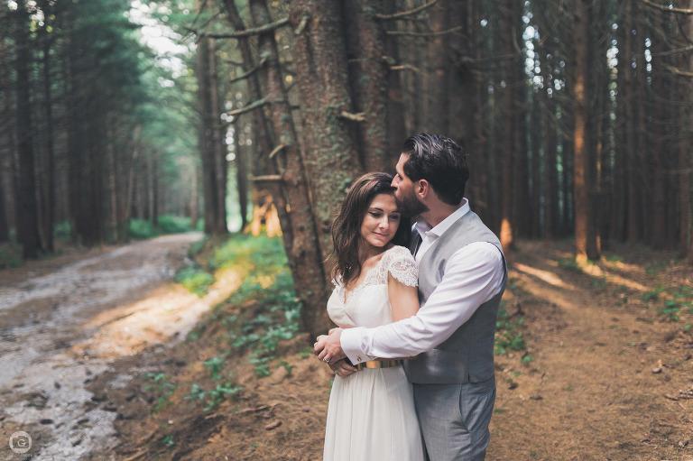 сватбена фотосесия в борова гора